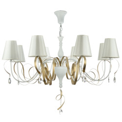 Chandelier Maytoni Intreccio White with Gold ARM010