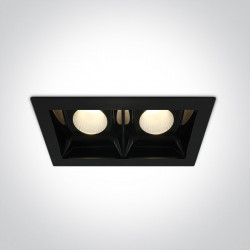 BLACK COB LED 2x20W WW 30deg 230V
