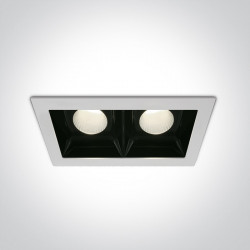 WHITE COB LED 2x20W CW 30deg 230V