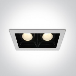 WHITE COB LED 2x20W WW 30deg 230V