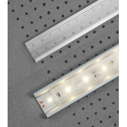KLIK 2 skaidrus dangtelis LED profiliams: SURFACE, GROOVE, CORNER, OVAL, DEEP, STEP